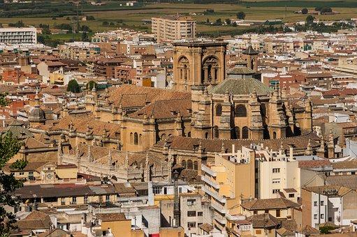 Granada, Spain, Cathedral, Church, Buildings, City