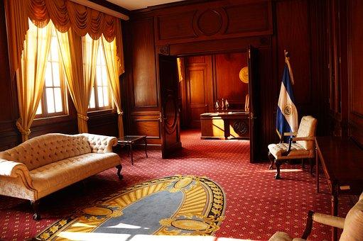 Palacio Nacional, El Salvador, Room, Furniture, Carpets
