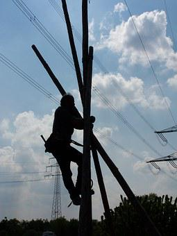 Electrician, Workers, Man, Work, High Voltage, Risk