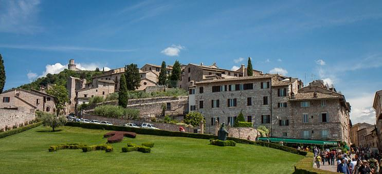 Assisi, Italy, Borgo, Vista, Architecture, Sky
