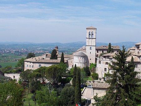 Assisi, Umbria, Landscape, Church, Convent