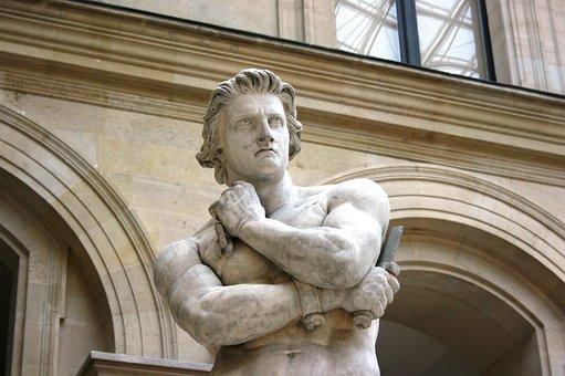 Spartacus, Sculpture, Louvre