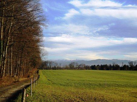 Landscape, Sky, Clouds, Away, Meadow, Grass, Nature