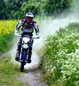 Motorcyclist, Cross, Man, Person, Sports, Motorbike