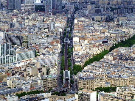 Paris, France, City, Urban, Buildings, Structure, Trees