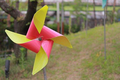 Pinwheel, Park, Wind, Children's Toys, Toy, Park Setup