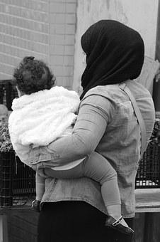 Woman, Child, People, Muslim, Kerchief, Mother