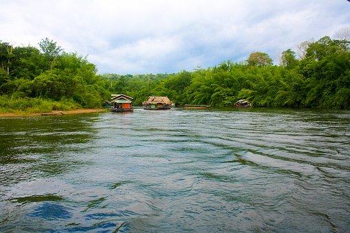 Kanchanaburi, Yok, Raft, Rafting, River Kwai