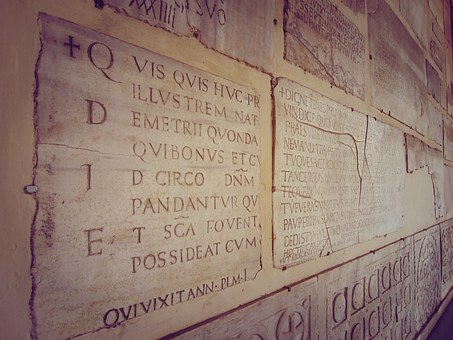 Rome, Board, Italy, On The Road, Letter, Writing, Stone