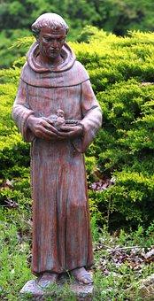 Saint Francis Of Assisi, Saint, Statue, Religious
