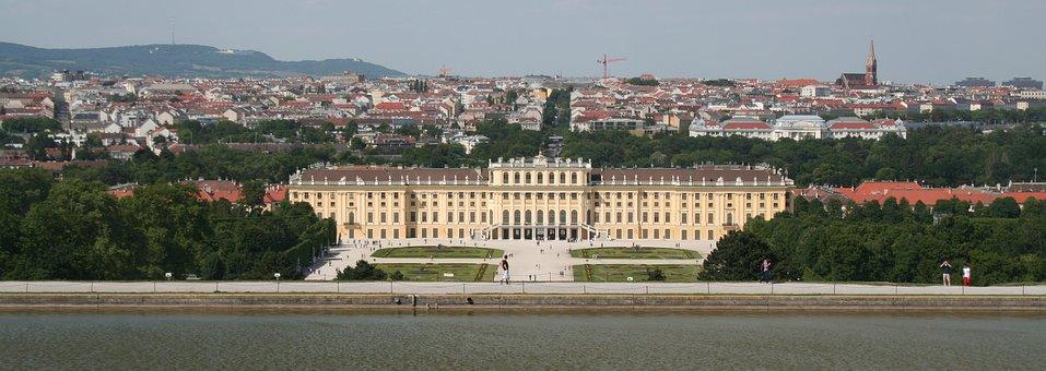 Vienna, Schönbrunn, View, Tourists, Castle Courtyard