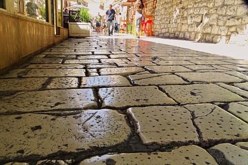 Marble, Croatia, Split, Historic Center, Old Roads