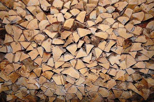 Wood, Split, Storage, Firewood, Wood For The Fireplace