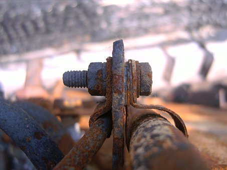 Clamp, Iron, Bolt Connection, Old Iron, Screw, Thread