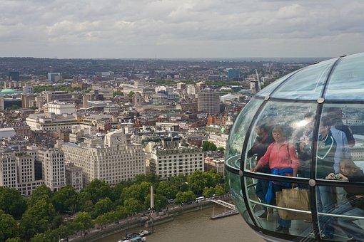 London, United Kingdom, Skyline, Tourism, Ferris Wheel