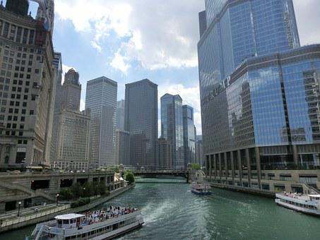 Chicago, Usa, United States, America