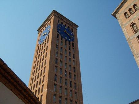 Aparecida Do Norte, Clock Tower, Basilica, Blue Sky