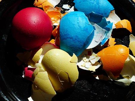 Eggshell, Egg, Easter Eggs, Colorful, Color