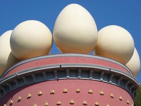 Egg, Ball, Museum, Dalí, Figueras, Spain, Building