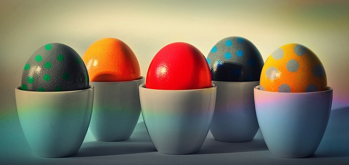 Easter Eggs, Easter, Egg, Egg Cups, Easter Egg Painting