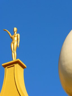 Figure, Golden, Egg, White, Museum, Dalí, Figueras