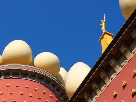 Figure, Golden, Egg, White, Museum, Dalí, Figueras