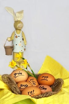 Easter, Easter Bunny, Color, Egg, Hare, Figure