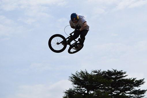 Bike, Stunt, Air, Trick, Danger, Bicycle, Freestyle