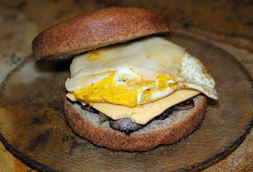 Egg, Sausage, Cheese, American, Swiss, Spelt, Homemade