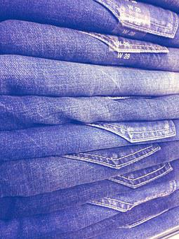Jeans, Jeans Stack, Pants, Blue Canvas, Fabric