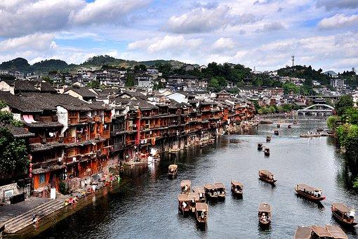 Tuojiang, Street, Ship, Jiang, The Old House