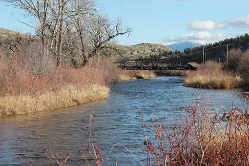 John Day, River, Eastern, Oregon, Water, Blue, Fall