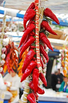 Chilli, Vegetable, Hot, Traditional, Local, Market
