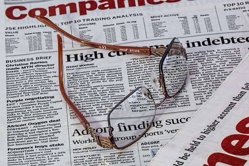 Newspaper, Spectacles, Glasses, Eye-care, Vision, Paper