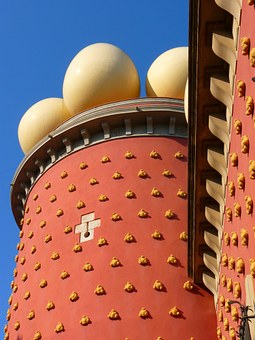 Egg, Ball, Building, Red, Dalí, Museum, Figueras, Spain