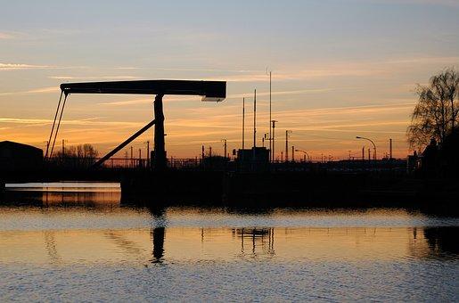 Bridge, Morgenstimmung, Water, River, Landscape