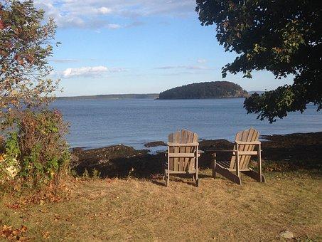 Bar Harbor, Massachusetts, Atlantic, Scenic, Serene