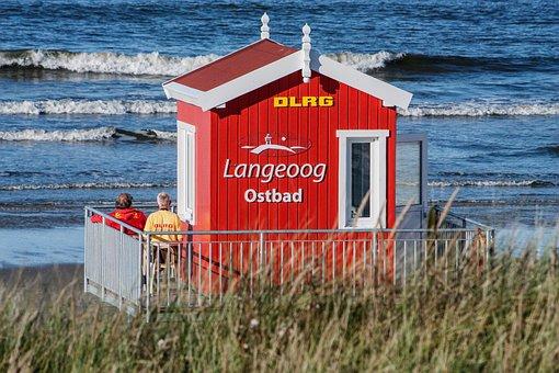 Langeoog, North Sea, East Frisia, Island, Walk, Sky