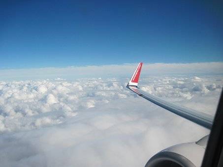 View From Plane, Sky, Clouds, Outdoors, Scenic