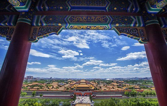China, Beijing, Building, The Scenery, Tourism, Cloud