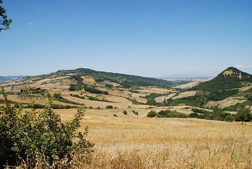 Tuscan, Hills, Fielsd, Italy, Countryside