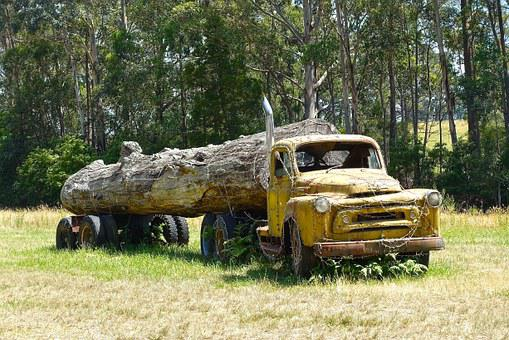Log Truck, Wreck, Logging, Truck, Log, Timber