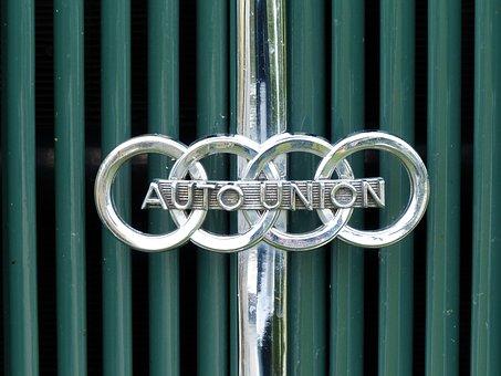 Auto Union, Emblem, Oldtimer, Vehicle, Logo, Automotive