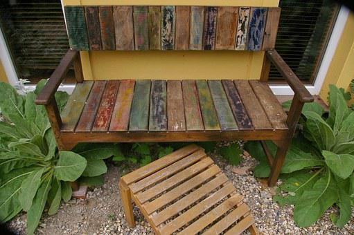 Bank, Garden Bench, Old, Used, Bare, Rest, Sit, Bench