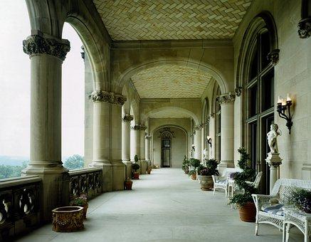 Biltmore Mansion, North Carolina, Veranda, Architecture