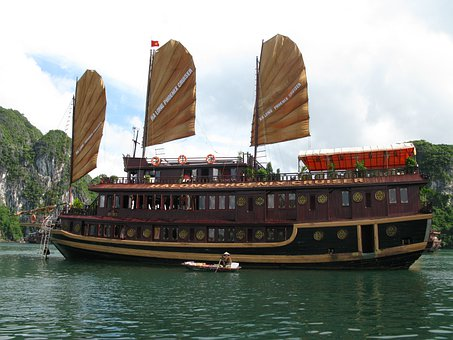 Ha Long Bay, Vietnam, Ship, Halong Bay, Hanoi, Boot