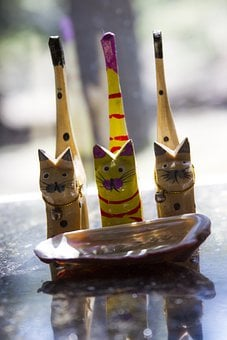 Cats, Whimsical, Abalone Shell, Abalone, Shell, Granite