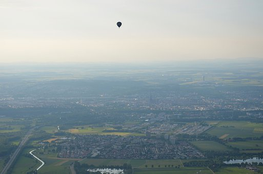 Ulm, Balloon, City, City From Above
