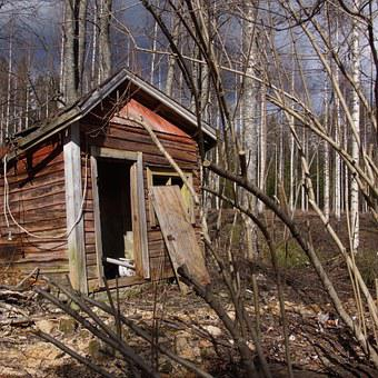 Abandoned, House, Sauna, Building, Shed, Collapsed