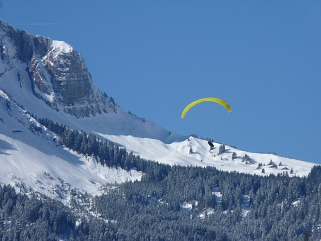 Alpine, Paraglider, Fly, Paragliding, Mountain